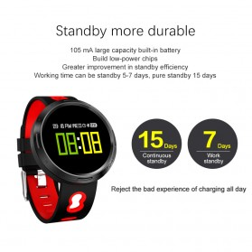 Smartwatch Sporty Fitness Tracker Android iOS Strap Silicone - X9-VO - Black - 5