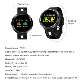 Smartwatch Sporty Fitness Tracker Android iOS Strap Silicone - X9-VO - Black - 7