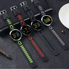 Smartwatch Sporty Fitness Tracker Android iOS Strap Silicone - X9-VO - Black - 8