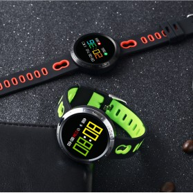 Smartwatch Sporty Fitness Tracker Android iOS Strap Silicone - X9-VO - Black - 9