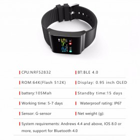 Smartwatch Sporty Fitness Tracker Android iOS Strap Silicone - X9 Pro - Black - 7