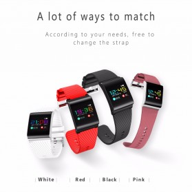 Smartwatch Sporty Fitness Tracker Android iOS Strap Silicone - X9 Pro - Black - 8
