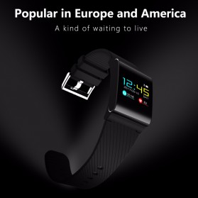 Smartwatch Sporty Fitness Tracker Android iOS Strap Silicone - X9 Pro - Black - 10