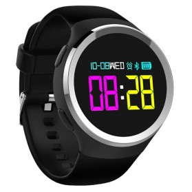 Smartwatch Sporty Fitness Tracker Android iOS Strap Silicone - N69 - Black