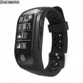Senbono S908 Sport Smartwatch Waterproof IP68 With GPS - Black