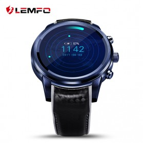 LEMFO LEM5 Pro Bluetooth Smartwatch Sporty SIM Card for Android (backup) - Black