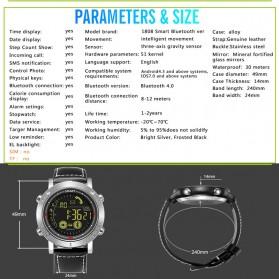 JeiSo Smartwatch Jam Tangan Fitness Tracker Pedometer Calorie - WQ-685-GL - Black - 6