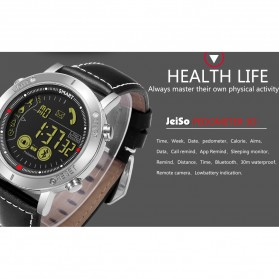 JeiSo Smartwatch Jam Tangan Fitness Tracker Pedometer Calorie - WQ-685-GL - Black - 8