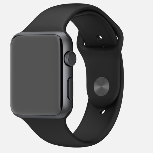 Apple Watch 38mm Stainless Steel Case with Sport Band