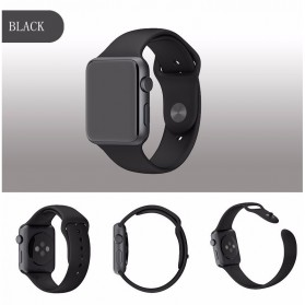 Band Silikon untuk Apple Watch 42mm Series 1/2/3/4 - Black