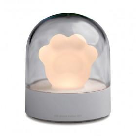 Peralatan Rumah Tangga - 3Life Lampu LED Cakar Kucing Cat Paw USB Night Light Lamp Rechargeable - 006 - Gray