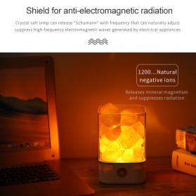 ICOCO Lampu Tidur LED Crystal Salt Lamp of Himalaya Lava Lamp - M4 - Black - 4