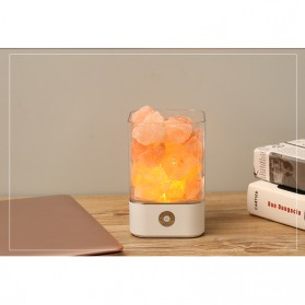 ICOCO Lampu Tidur LED Crystal Salt Lamp of Himalaya Lava Lamp - M4 - Black - 5