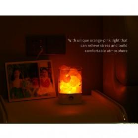 ICOCO Lampu Tidur LED Crystal Salt Lamp of Himalaya Lava Lamp - M4 - Black - 7