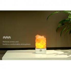 ICOCO Lampu Tidur LED Crystal Salt Lamp of Himalaya Lava Lamp - M4 - Black - 8