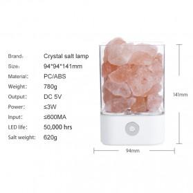 ICOCO Lampu Tidur LED Crystal Salt Lamp of Himalaya Lava Lamp - M4 - Black - 9