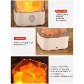 ICOCO Lampu Tidur LED Crystal Salt Lamp of Himalaya Lava Lamp - M4 - Black - 10