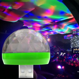 Magic Ball Lampu LED RGB USB Atmospere DJ Light Sound Control -  HS-WT-006 - Green
