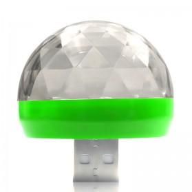 Magic Ball Lampu LED RGB USB Atmospere DJ Light Sound Control -  HS-WT-006 - Green - 2
