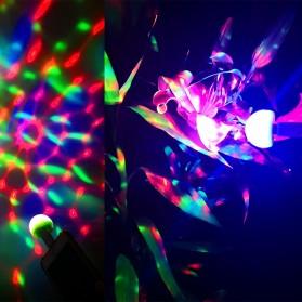Magic Ball Lampu LED RGB USB Atmospere DJ Light Sound Control -  HS-WT-006 - Green - 4
