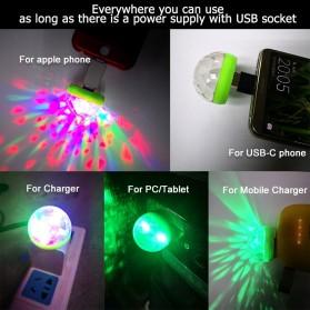 Magic Ball Lampu LED RGB USB Atmospere DJ Light Sound Control -  HS-WT-006 - Green - 5