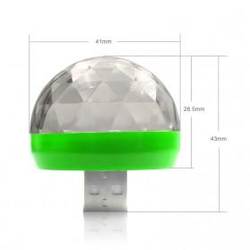 Magic Ball Lampu LED RGB USB Atmospere DJ Light Sound Control -  HS-WT-006 - Green - 7
