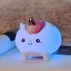 OUYOR Lampu Tidur LED RGB Light Model Unicorn - LJC-125 - White - 5