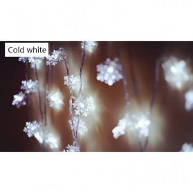 Lampu Hias Dekorasi Snowflake Christmas Light 100 LED - 2G11 - White