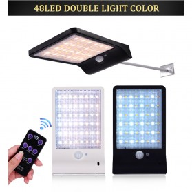 Alloet Lampu Solar Outdoor 48 LED 7 Color Temperature +Remote 2700-6000K - 1501B - Black