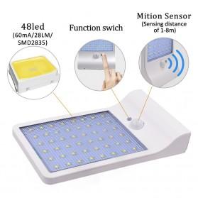 Alloet Lampu Solar Outdoor 48 LED 7 Color Temperature +Remote 2700-6000K - 1501B - Black - 5