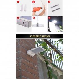 Alloet Lampu Solar Outdoor 48 LED 7 Color Temperature +Remote 2700-6000K - 1501B - Black - 6