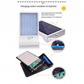 Alloet Lampu Solar Outdoor 48 LED 7 Color Temperature +Remote 2700-6000K - 1501B - Black - 8