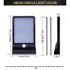 Alloet Lampu Solar Outdoor 48 LED 7 Color Temperature +Remote 2700-6000K - 1501B - Black - 9