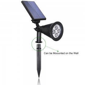 Hyelaer Lampu Taman Energi Solar Panel 4 LED - TS-G0102 - Black - 4