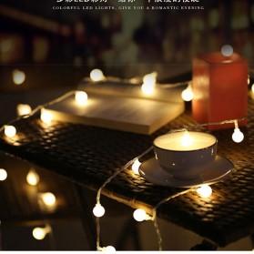 MUQGEW Lampu Hias Sperical Light String Portable RGB 100 LED 10M - ZYD0931 - Mix Color - 5