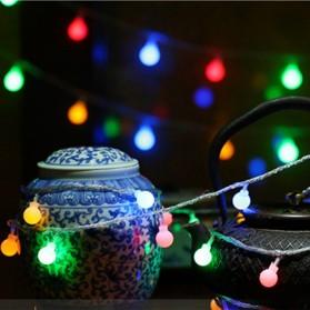 MUQGEW Lampu Hias Sperical Light String Portable RGB 100 LED 10M - ZYD0931 - Mix Color - 7