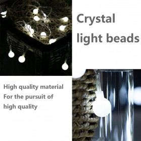 MUQGEW Lampu Hias Sperical Light String Portable RGB 100 LED 10M - ZYD0931 - Mix Color - 9