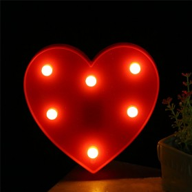 Hapeisy Lampu Dekorasi Marquee LED 3D Romantic Model Heart - M10 - Red