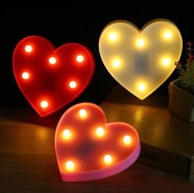 Hapeisy Lampu Dekorasi Marquee LED 3D Romantic Model Heart - M10 - Red - 4