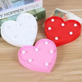 Hapeisy Lampu Dekorasi Marquee LED 3D Romantic Model Heart - M10 - Red - 5
