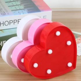 Hapeisy Lampu Dekorasi Marquee LED 3D Romantic Model Heart - M10 - Red - 6