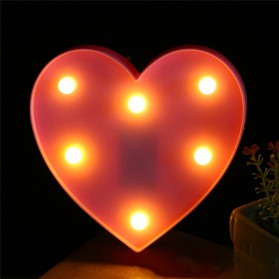 Hapeisy Lampu Dekorasi Marquee LED 3D Romantic Model Heart - M10 - Red - 7