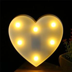 Hapeisy Lampu Dekorasi Marquee LED 3D Romantic Model Heart - M10 - Red - 8