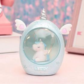 Moobesid Lampu Tidur Bayi LED Night Light Model Pegasus Unicorn - MM9003-9B - Blue