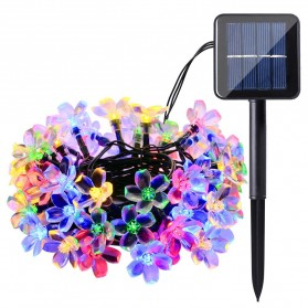 YUSHILED Lampu Hias Dekorasi 50 LED 7 Meter with Solar Panel - M072 - Mix Color