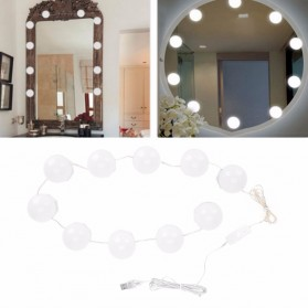 CanLing Lampu Hias LED Bola USB Make Up Mirror 10 LED 3000 - 6500K - CL10 - White - 3