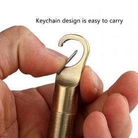 AOLIKES Gantungan Kunci Korek Api Dolphin Lighter Waterproof - HY665 - Silver - 4