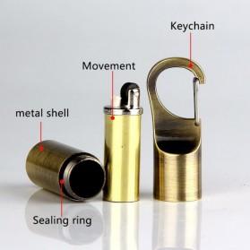 Aolikes Gantungan Kunci Korek Api Dolphin Lighter Waterproof - HY665 - Silver - 5