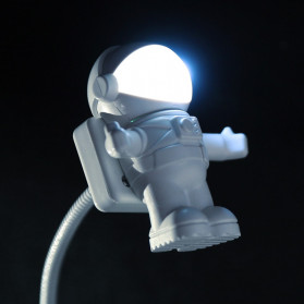 Eshoo Lampu LED USB Night Light Lamp Flexible Spaceman Astronaut - X01 - Gray - 2