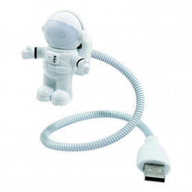 Eshoo Lampu LED USB Night Light Lamp Flexible Spaceman Astronaut - X01 - Gray - 5
